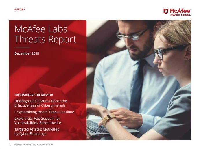 McAfee Lab finds 480 new threats every minute in 3rd Quarter 2018