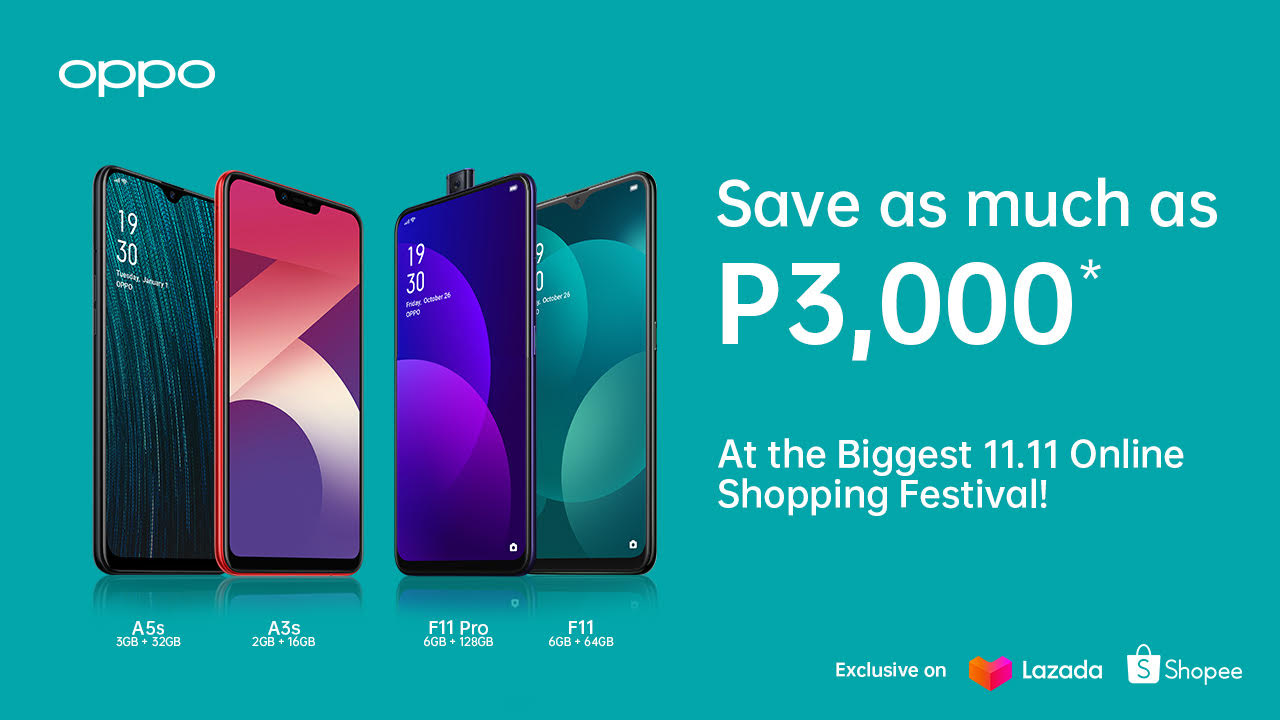 OPPO Joins Biggest 11.11 2019 Online Sale