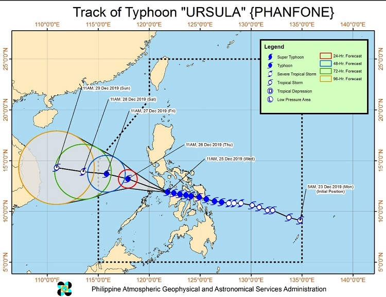 Typhoon 'Ursula' Maintains Strength, Moves Towards Southern Mindoro — DOST