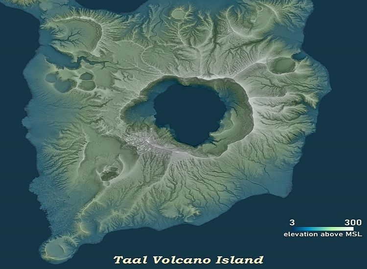 Taal Volcano Eruption Affected Areas on UP Map