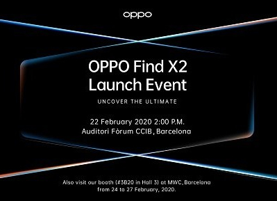 OPPO Find X2 in Barcelona Mobile World Congress 2020
